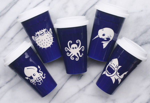 Nautical Travel Mugs