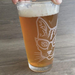 Glasses Cat Beer Glass