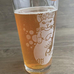 Mermaid Cat Beer Glass