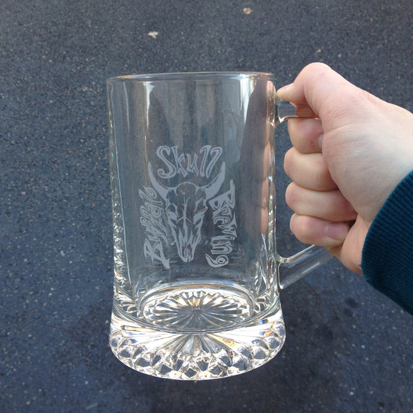 custom etched beer mug