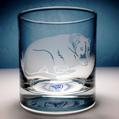 custom dog portrait whiskey glass