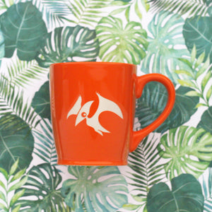 pterodactyl mug in orange