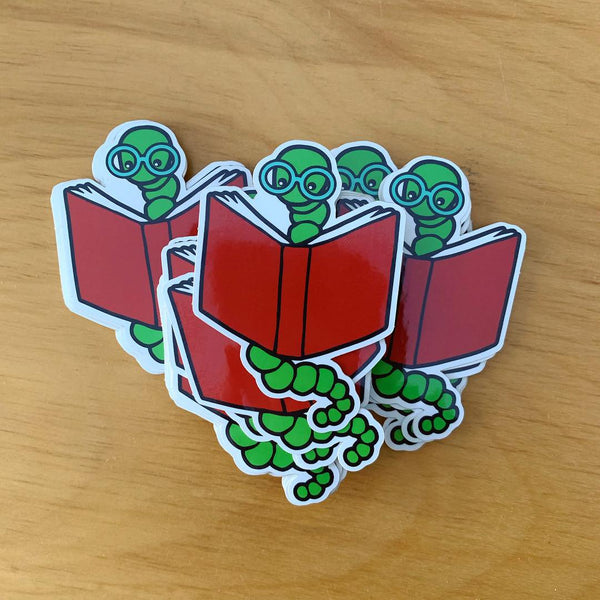 Bookworm Sticker