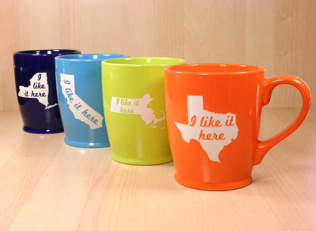 State mugs in 4 colors