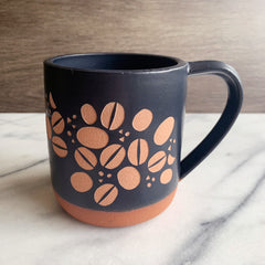 Coffee Beans Mug, Farmhouse Style