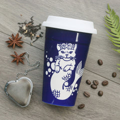 Mermaid Cat Travel Mug