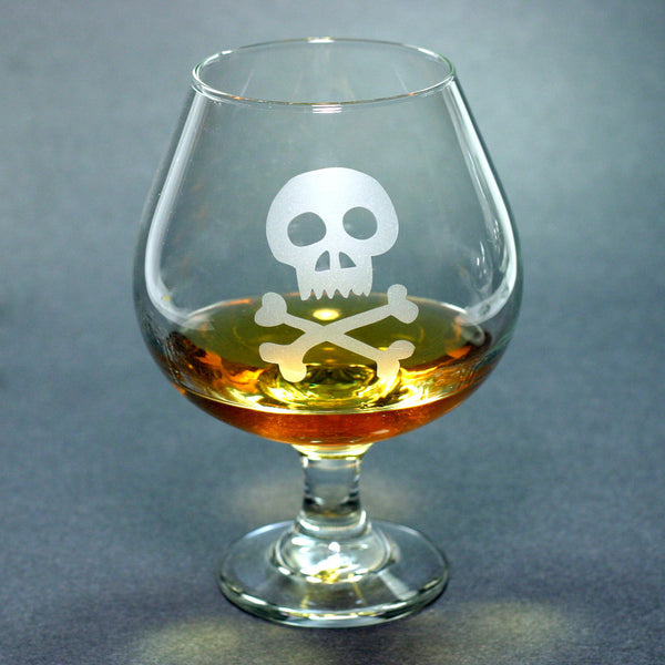 Skull brandy snifter by Bread and Badger