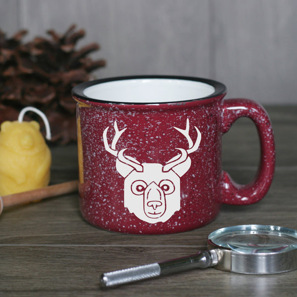 Beer Bear with Antlers camp mug