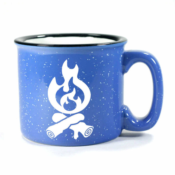 Campfire camp mug in ocean blue by Bread and Badger