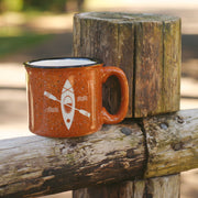 Kayak ceramic camping mug by Bread and Badger