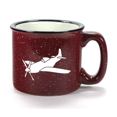 Camp Mug, Burgundy Ceramic