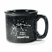 aquarius constellation camp mug, black, by Bread and Badger