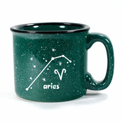 aries constellation camp mug, forest green, by Bread and Badger