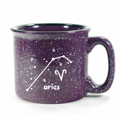 aries constellation camp mug, purple, by Bread and Badger