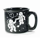 Black Astronaut Love camp mug, by Bread and Badger