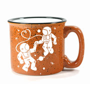 rust camp mug, astronaut love