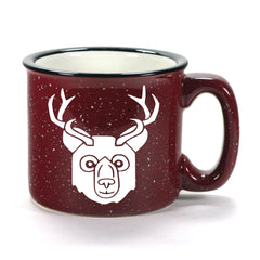 BEER Bear with Antlers Mug, camp burgundy