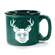 BEER Bear with Antlers Mug, camp forest green