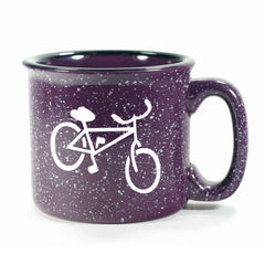 Purple Bicycle camp mug, by Bread and Badger