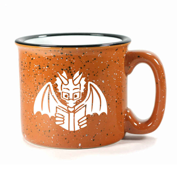 Rust Book Dragon camp mug, by Bread and Badger