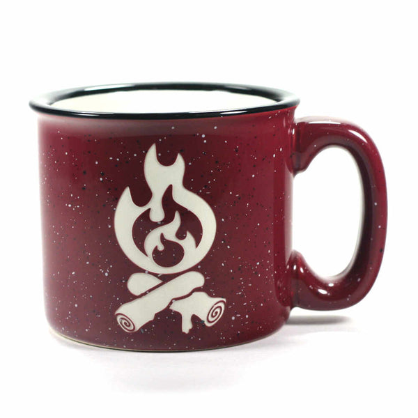 Campfire camp mug in burgundy by Bread and Badger