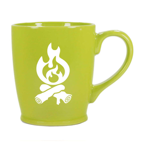 Campfire mug in celery green by Bread and Badger