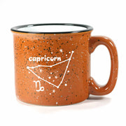 capricorn constellation camp mug, rust, by Bread and Badger