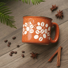 Coffee Beans Mug with Handle - Engraving is Dishwasher-Safe, Microwave-Safe