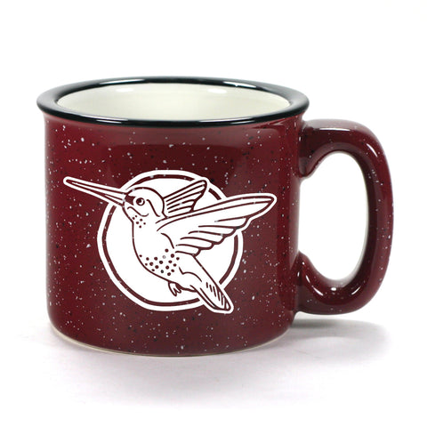Hummingbird mug in Camp Burgundy by Bread and Badger