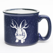 Jackalope navy blue camp mug by Bread and Badger