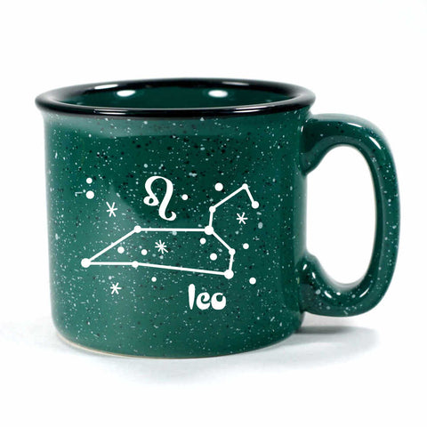 leo constellation camp mug, forest green, by Bread and Badger