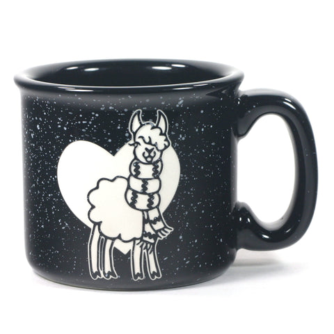 Llama Camp Mug, Black - Bread and Badger