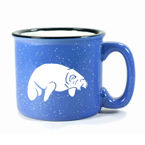 Camp ocean blue manatee mug by Bread and Badger