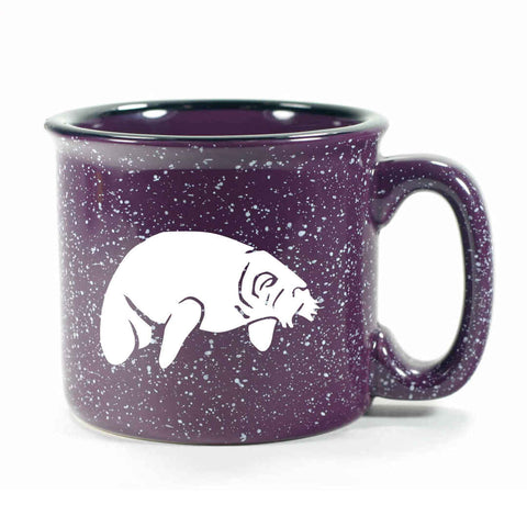 Camp purple manatee mug by Bread and Badger