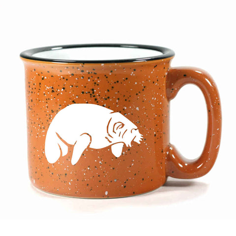 Camp rust manatee mug by Bread and Badger