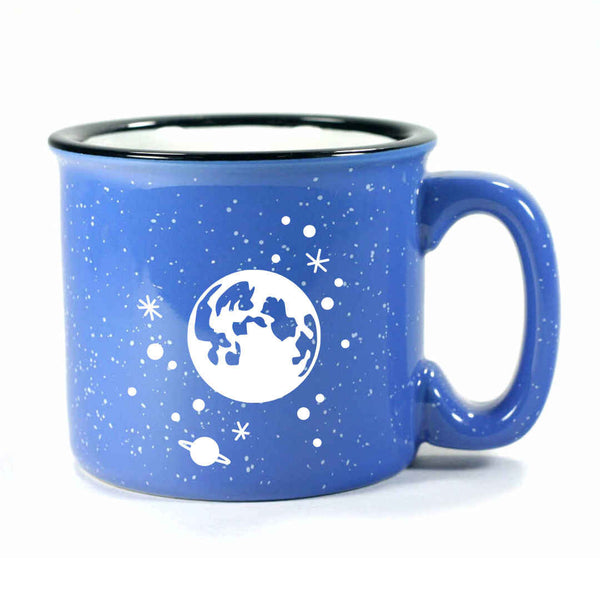 Ocean Blue Full Moon camp mug by Bread and Badger