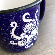 Close up of the sandcarved texture of our mugs