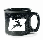 Black Oregon Stag camp mug by Bread and Badger