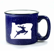 Navy Blue Oregon Stag camp mug by Bread and Badger