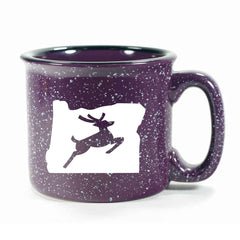 Purple Oregon Stag camp mug by Bread and Badger