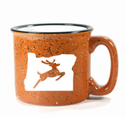 Rust Oregon Stag camp mug by Bread and Badger