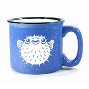 Ocean Blue Puffer Fish camp mug by Bread and Badger