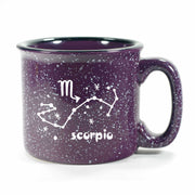 scorpio constellation camp mug, purple, by Bread and Badger