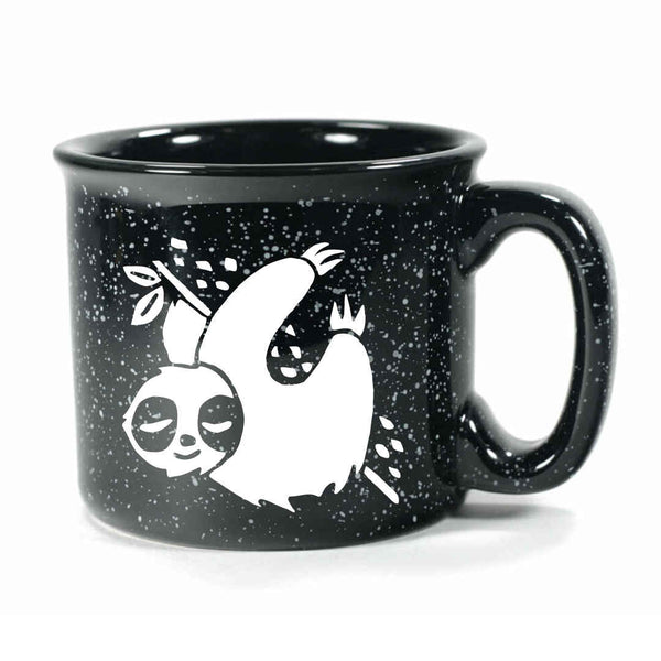 Black Sloth camp mug by Bread and Badger