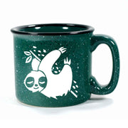 Forest Green Sloth camp mug by Bread and Badger