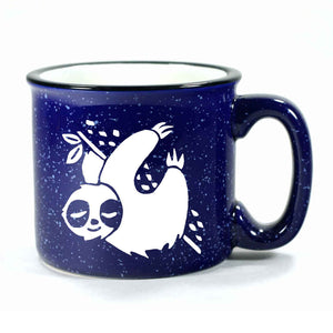 Navy Blue Sloth camp mug by Bread and Badger