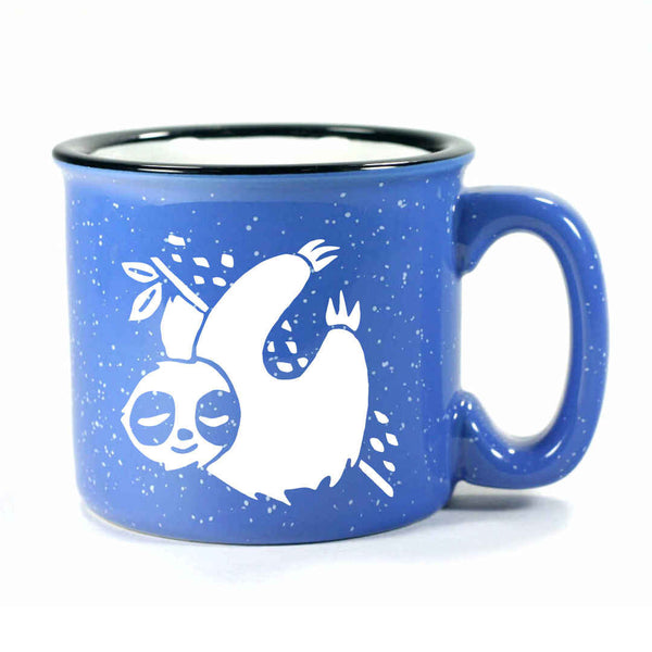 Ocean Blue Sloth camp mug by Bread and Badger