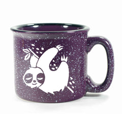 Purple Sloth camp mug by Bread and Badger