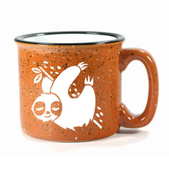Rust Sloth camp mug by Bread and Badger