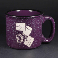 S'mores camp mug in purple by Bread and Badger
